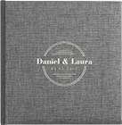Gamma photo album with laser etched names and swarovski crystals