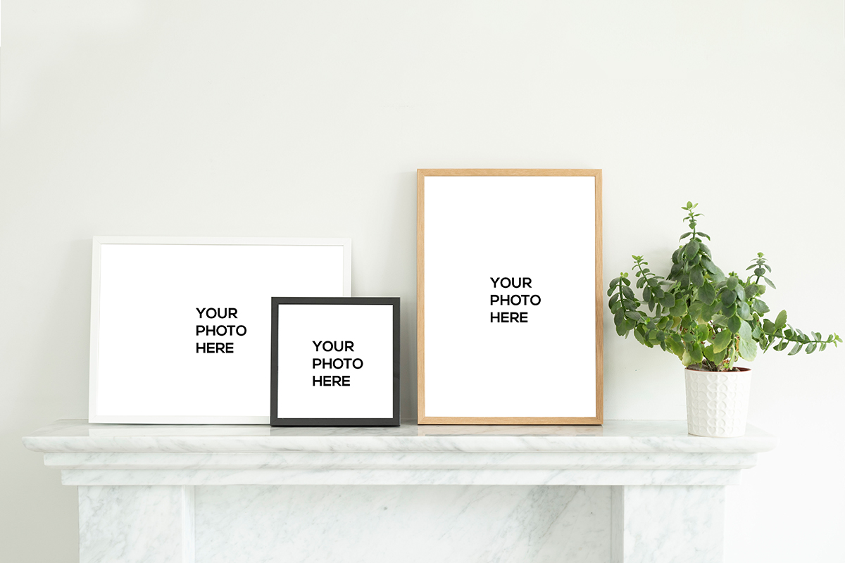 Wall Decor samples, free wall decor mockups