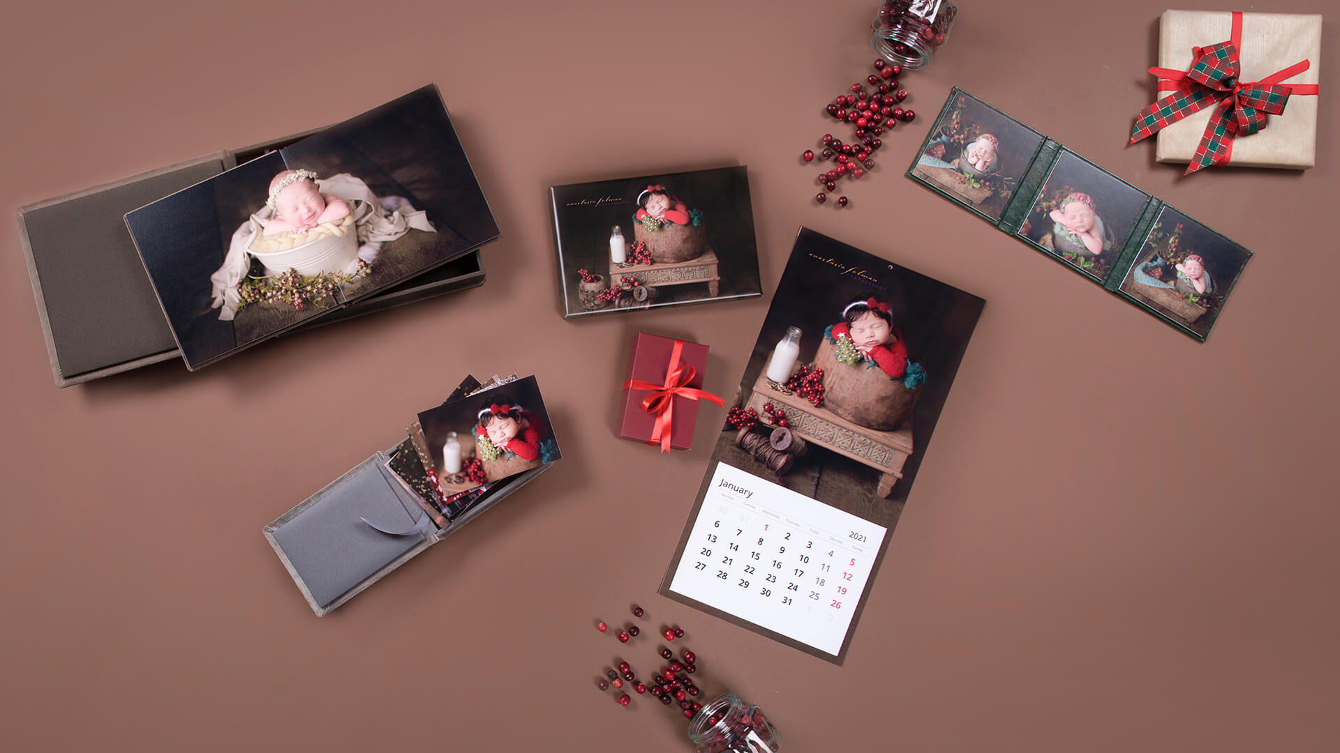 Christmas Mini Session products for newborn photography