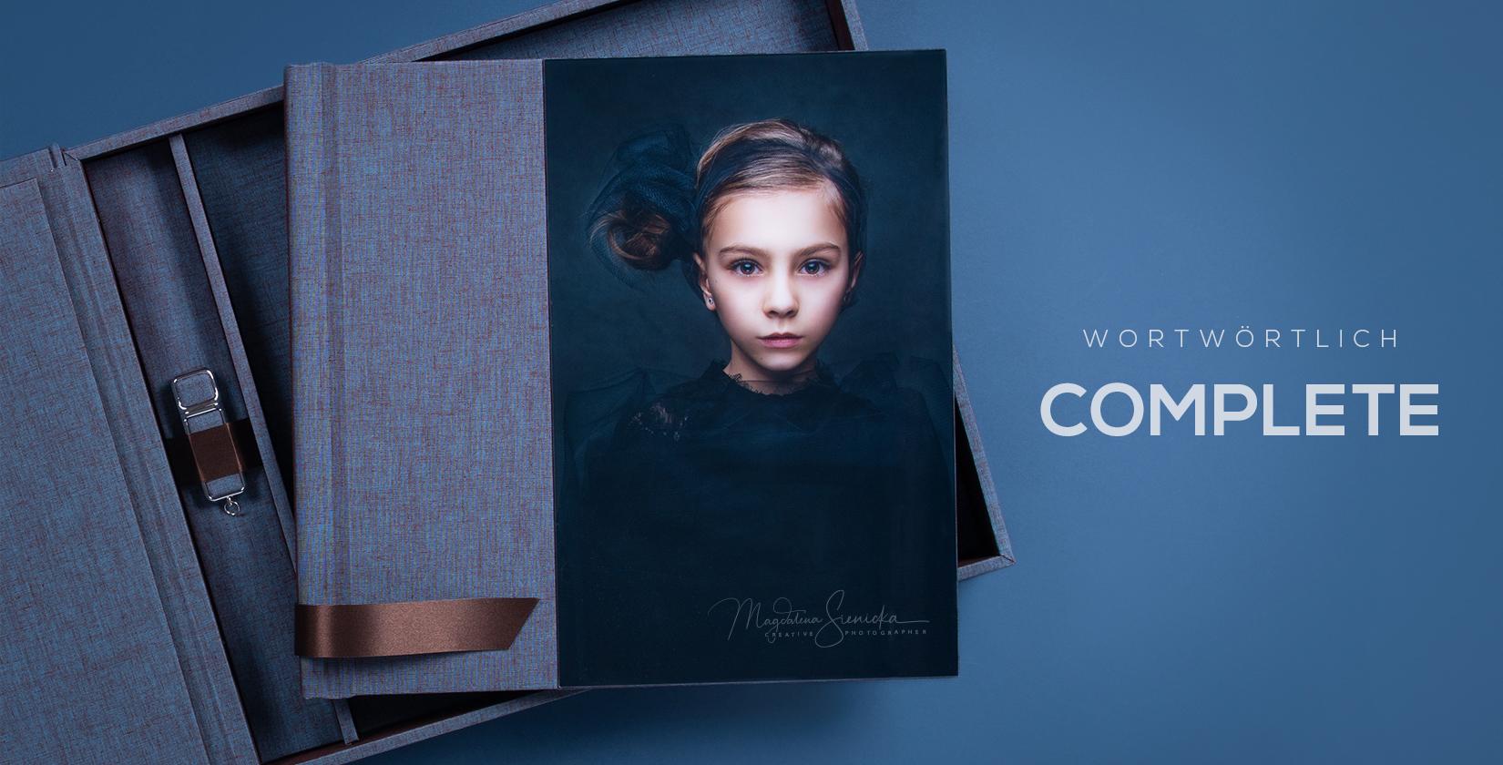 3in1 Complete Fotoalbum Set mit Box und USB nPhoto