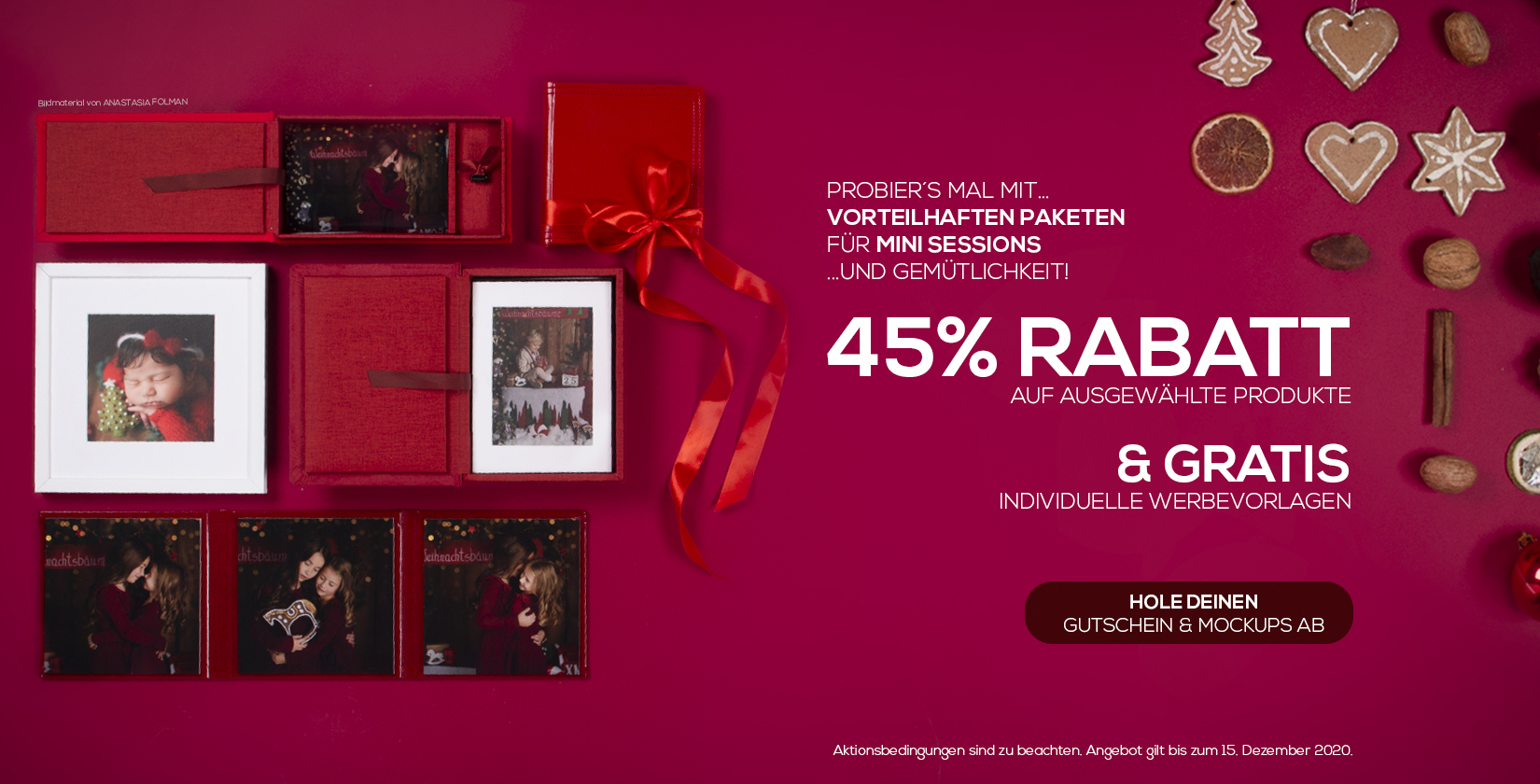 Mini Sessions Paketangebot 45%
