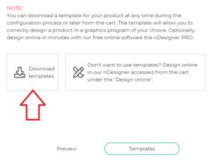 NSHOP VIEW: Download Templates for your design and Custom Logo