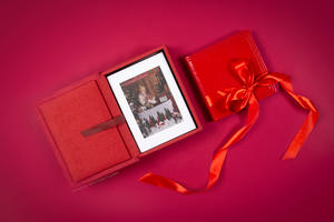 Folio Box with Matted Prints and Photo Album Exclusive