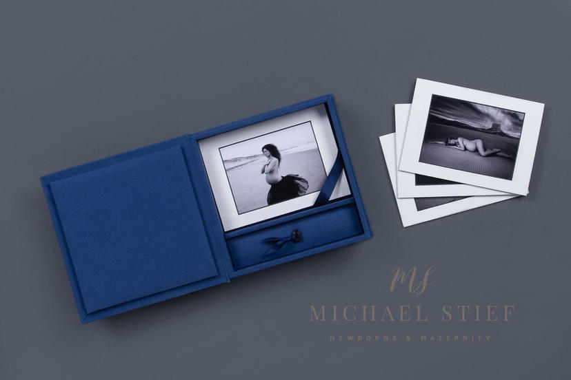 Folio box matted prints board mounted prints professional photographer printing lab nphoto maternity Michael Stief
