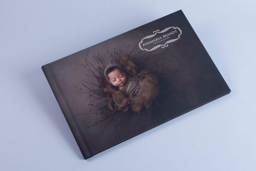 Creative cover Photo Book Ana Brandt newborn photography professional printing services printing lab nphoto
