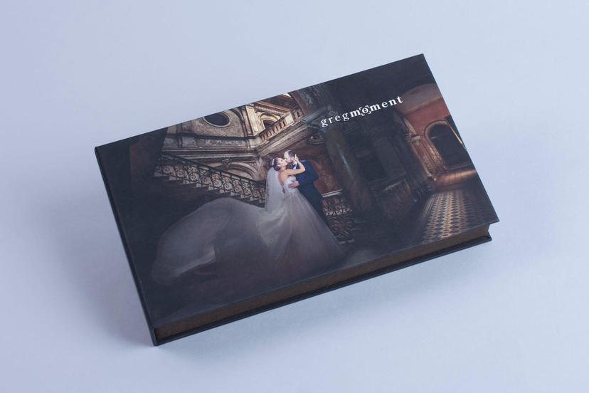 Creative cover presentation box box for prints nphoto with matte finish