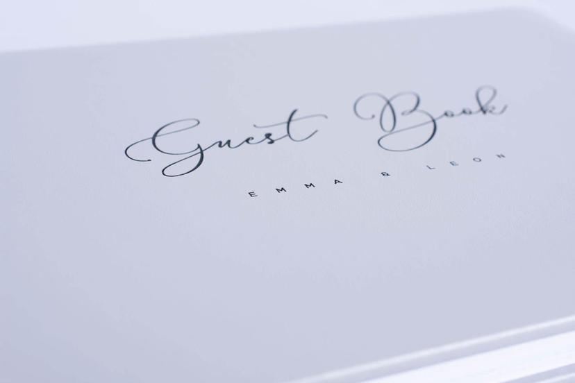 Exclusive custom logo on the cover photo album gray grey nphoto printing lab for professional photographers guest book