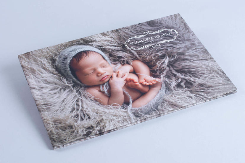 Photo Book Pro with custom hardcover cover professional baby photo album book for photographers nphoto newborn photographer Ana Brandt printed products