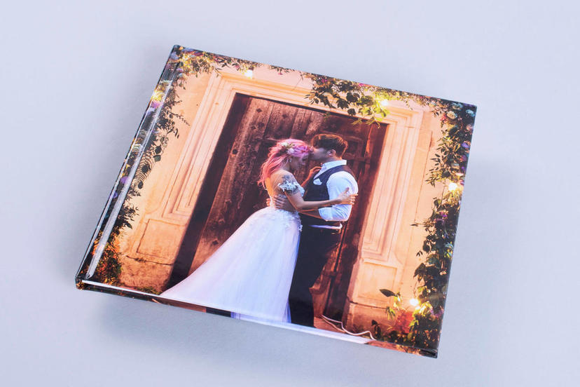 Photo Book with custom cover personalisation professional wedding photo album books for photographers nphoto mohawk eggshell felix schoeller paper