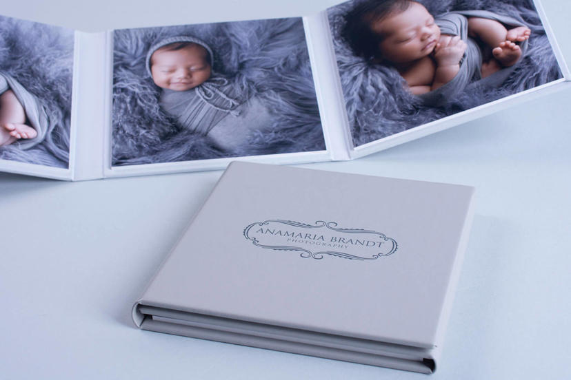 Triplex trifold 3 piece image product grandparent gifts photographer nphoto newborn photography Ana Brandt Triplex trifold tri-fold three images printed professional.