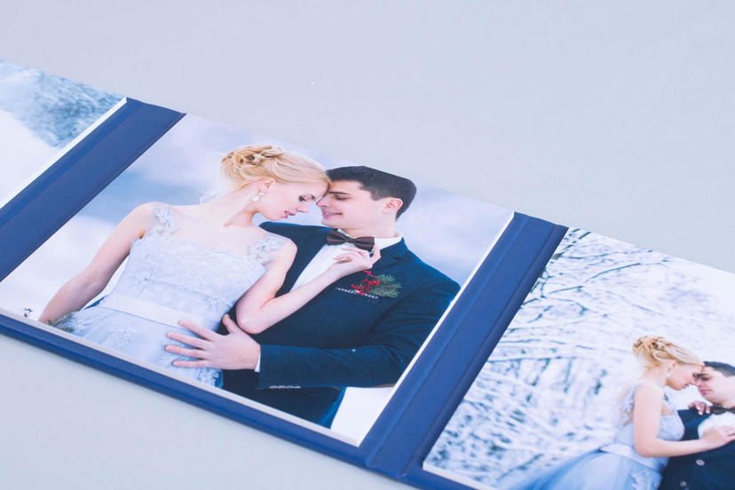 Triplex trifold 3 piece image product wedding centerpiece printed tri-fold nphoto upselling products for wedding photographers navy blue product ideas for photographers