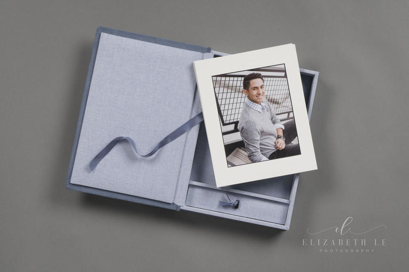 Folio Box presentatoion box with matted prints professional photographer printing lab nphoto velvet textiles