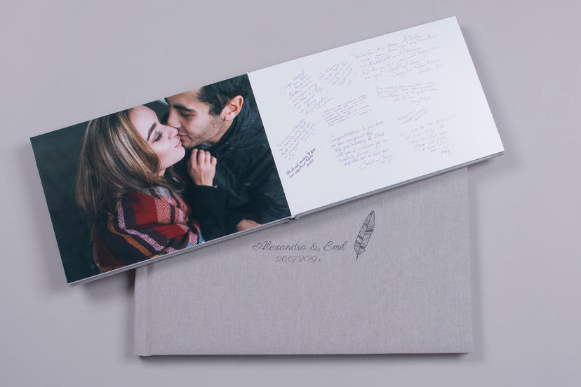 Engagement Photo Album turned into Guest Book