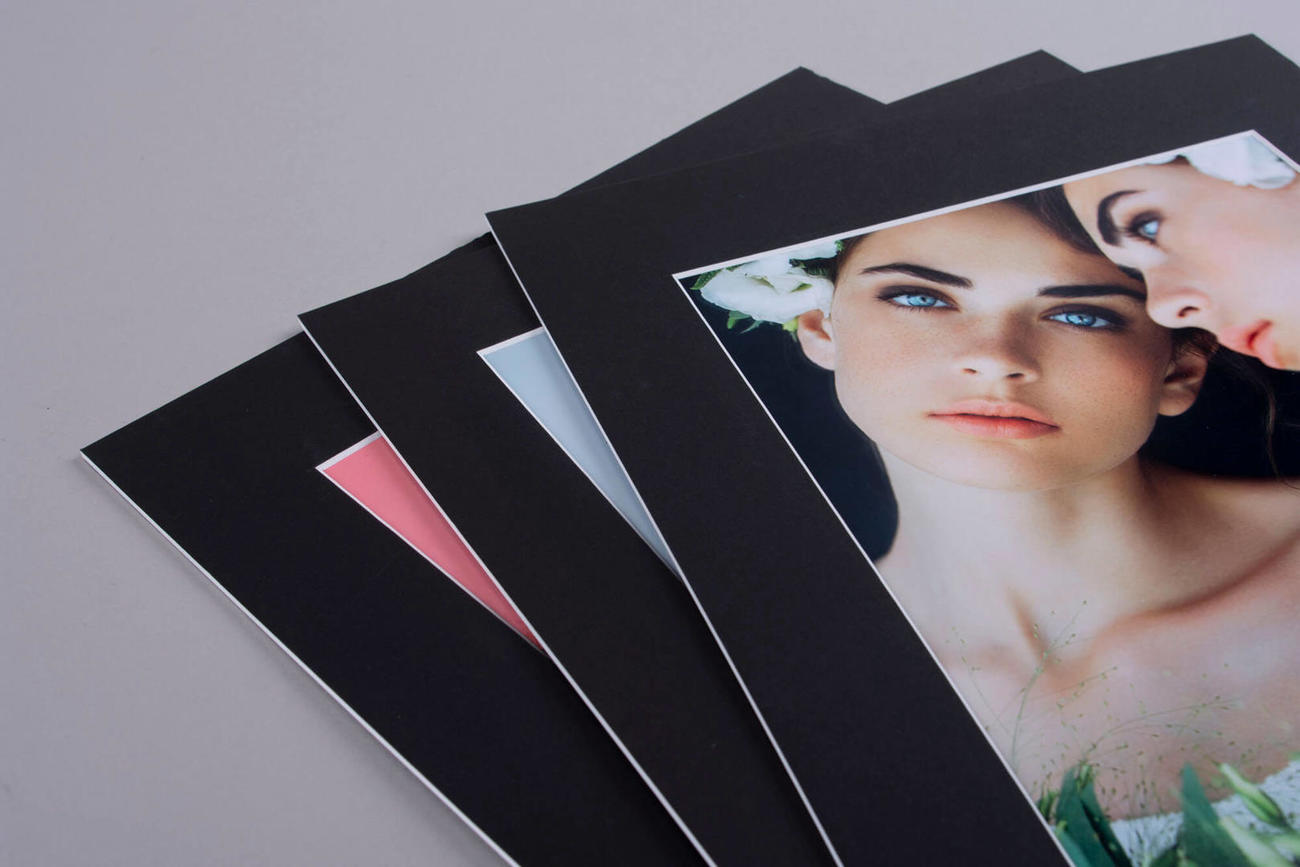 High Quality Matted Prints for Folio Box