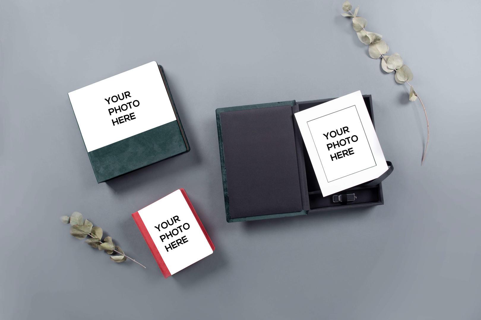 Folio Box Mockups Now with Acrylic Prestige